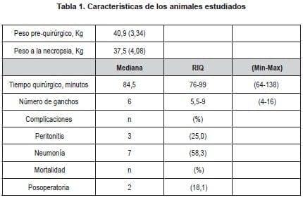 Características Animales Estudiados