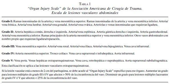 LESIONES VASCULARES ABDOMINALES, REVISTA DE CIRUGÍA, MEDICINA