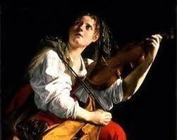 Muchacha tocando el laúd - Orazio Gentileschi