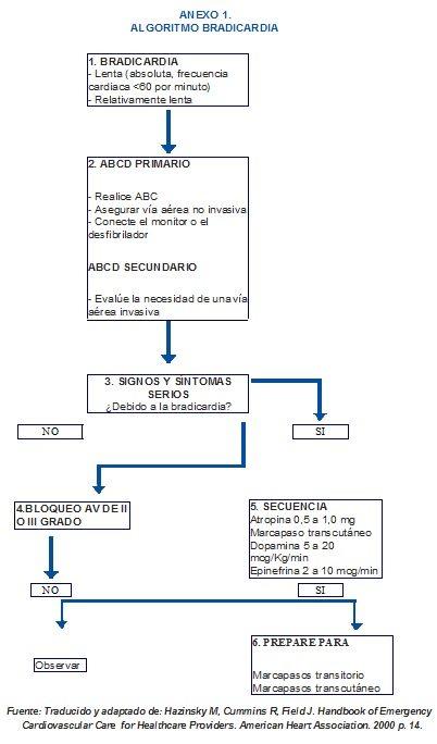 Algoritmo Bradicardia, Anexo 1