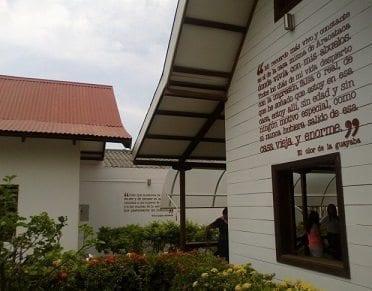 Casa de Aracataca restaurada, donde Nació y vivió sus primeros años.