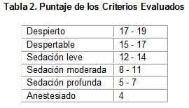 Puntaje de los Criterios Evaluados