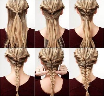 Peinado con el pelo enrollado