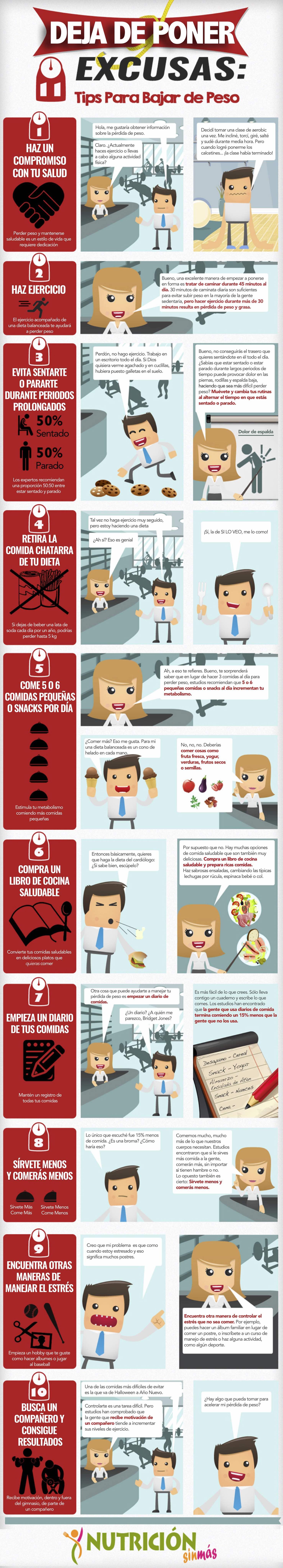 Cómo bajar de peso sanamente