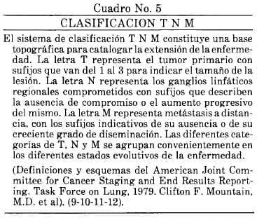 Clasificación T N M