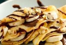 Pancakes de avellana y platano