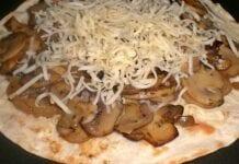 Quesadillas de champiñones con queso