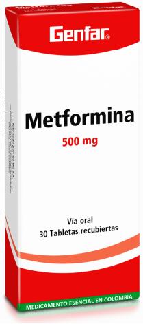Metformina 500mg Tabletas - Genfar