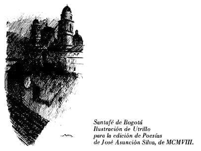 Santafé de Bogotá Ilustración de Utrillo