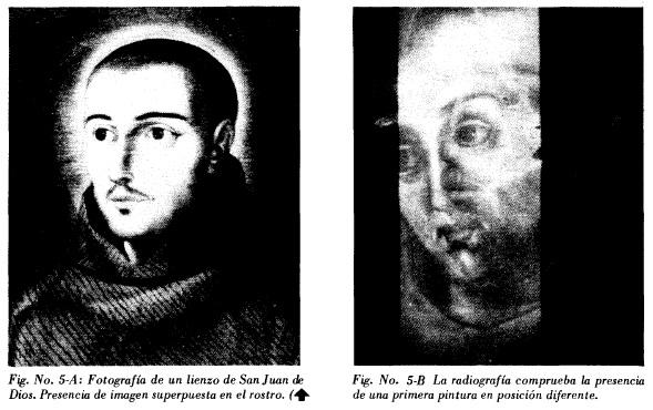 Fotografía de un lienzo de San Juan deDios