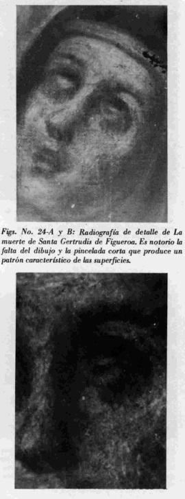Detalle de La muerte de Santa Gertrudis de Figueroa