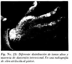 Radiografía de obra atribuída al pintor