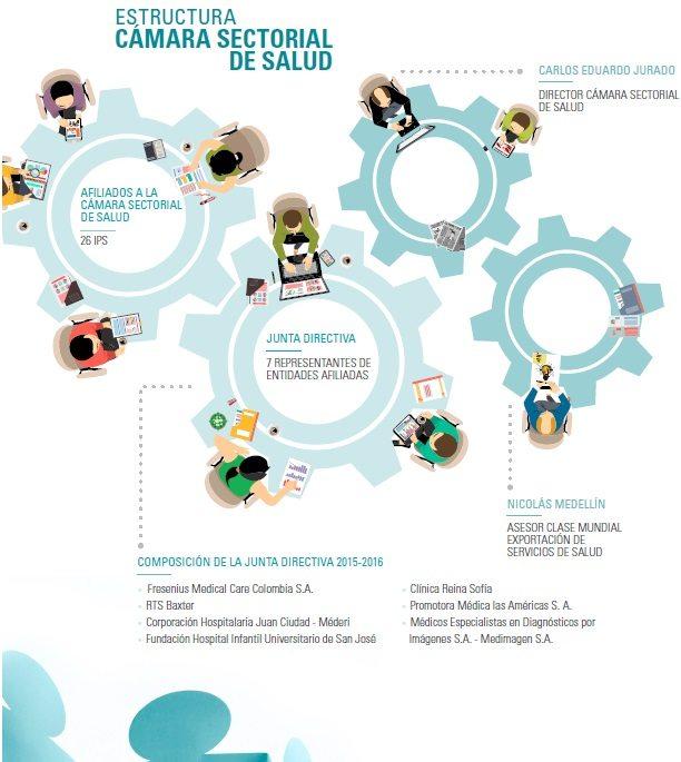 Estructura cámara sectorial de salud