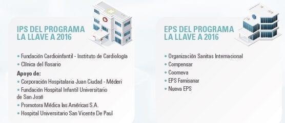 IPS y EPS del Programa la Llave