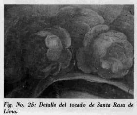 Detalle del tocado de Santa ROM deLima