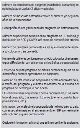 Encuesta a los nefrólogos latinoamericanos