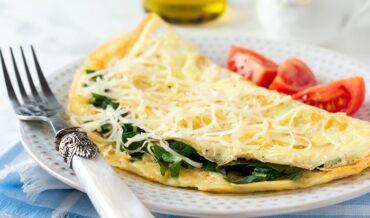 Omelette con Espinacas