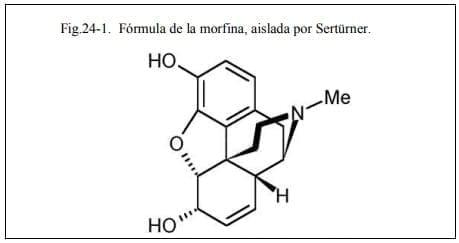 Fórmula de la morfina