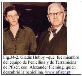 Gladis Hobby con Alexander Fleming