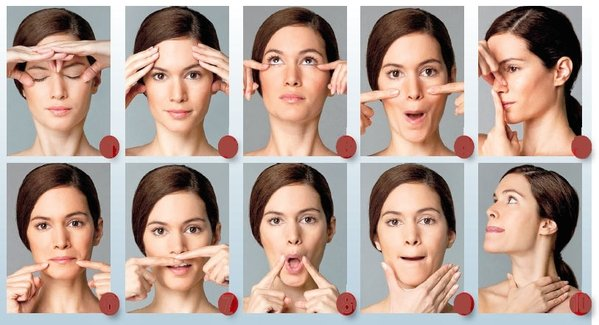 Gimnasia facial ejercicios