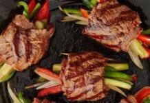 rollo de carne con verduras