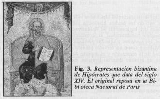 Representación bizantina de Hipócrates - Aspectos Éticos y Legales de la Cirugía