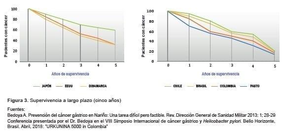 Supervivencia a largo del cáncer gástrico