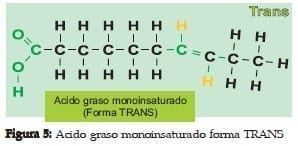 Ácido graso Monoinsaturado forma TRANS
