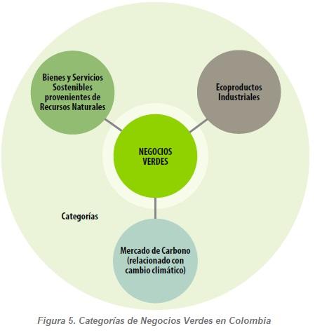 Categorías de Negocios Verdes en Colombia