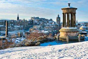 Edimburgo en invierno, Europa