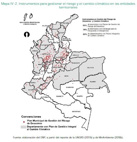 Riesgo y el cambio climático en las entidadesTerritoriales