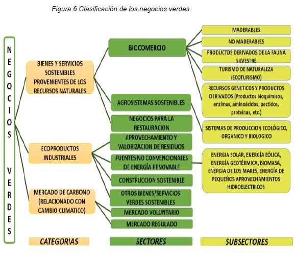 Clasificación de los negocios verdes