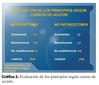 Evaluación de los principios según cursos de acción -Urología