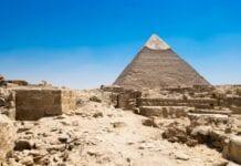 las pirámides de Guiza en Egipto