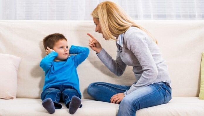 no gritar a los niños