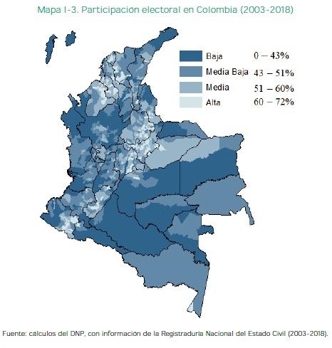 Participación electoral en Colombia (2003-2018)