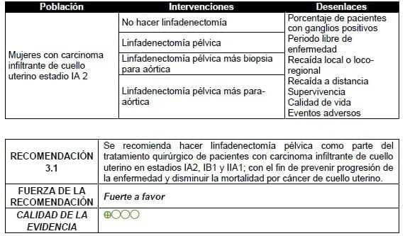 Linfadenectomía pélvica estadio IA 2
