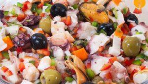 salpicón de marisco - aperitivos de navidad