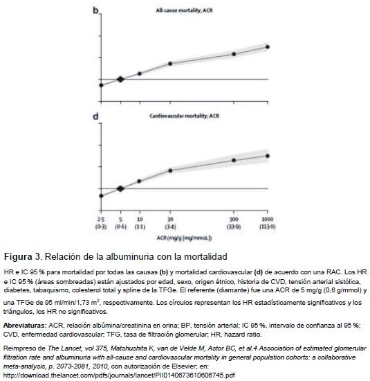 . Relación de la albuminuria con la mortalidad