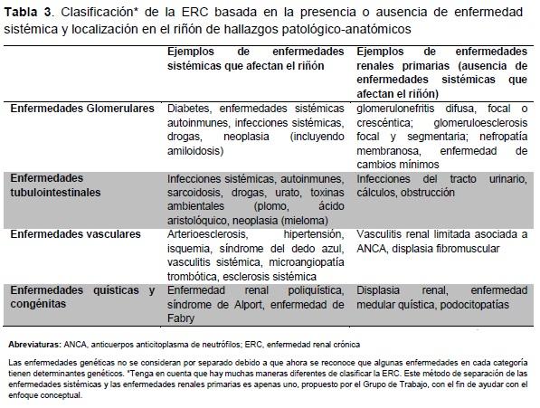 Clasificación* de la ERC