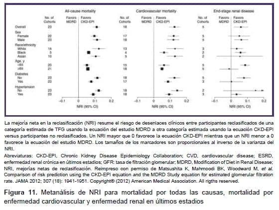 Metanálisis de NRI para mortalidad
