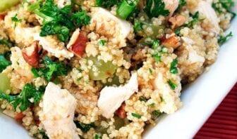 Ensalada de quinoa, pollo y verduras