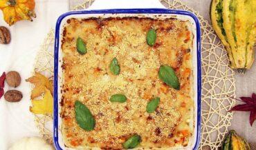 Calabaza gratinada con parmesano y albahaca