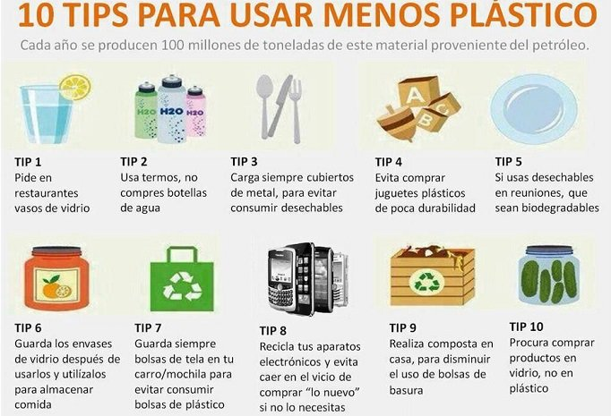 tips para usar menos plástico