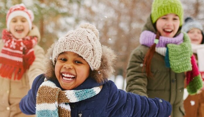 Vestir a los Niños para el Invierno
