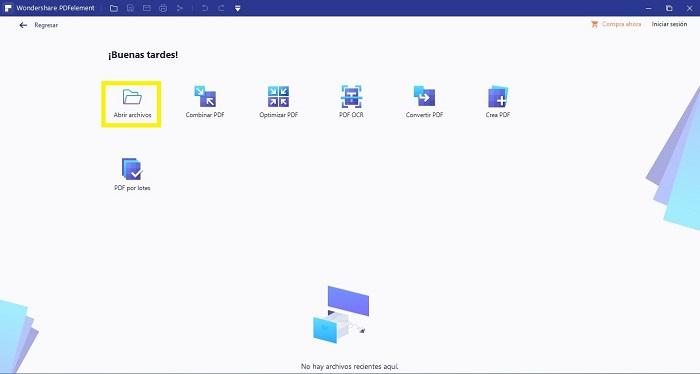 PDF Seleccionar el archivo que será transformado