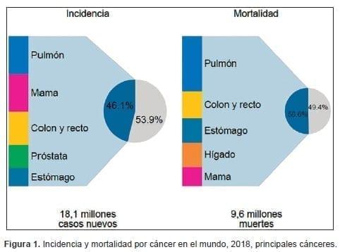 Incidencia y mortalidad por cáncer en el mundo, 2018,