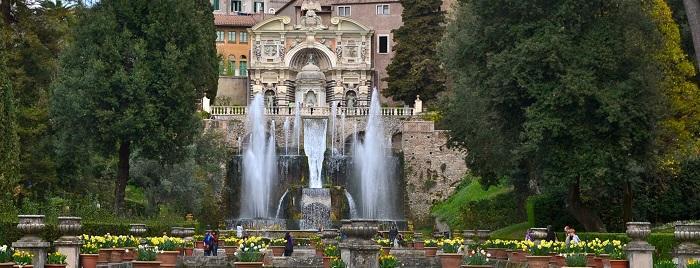 Villa d' Este en Roma
